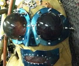 Mad scientist, full hood of steampunk design.