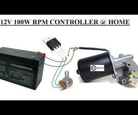 Simplest 12V 100W DC Motor Speed Controller