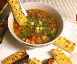 Quick & Easy Way to Garlic, Herb & Parmesan Bread - Yum