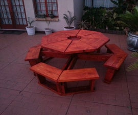 Octagonal Party Bench