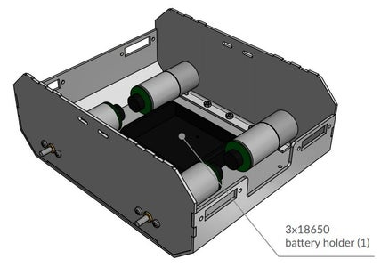 Attach the Battery Pack for 3x 18650 Li-Ion Batteries and Insert the Batteries