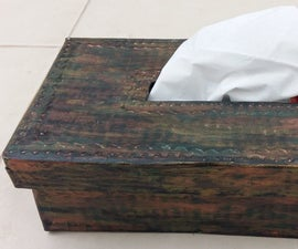 Antique Tissue Box Holder