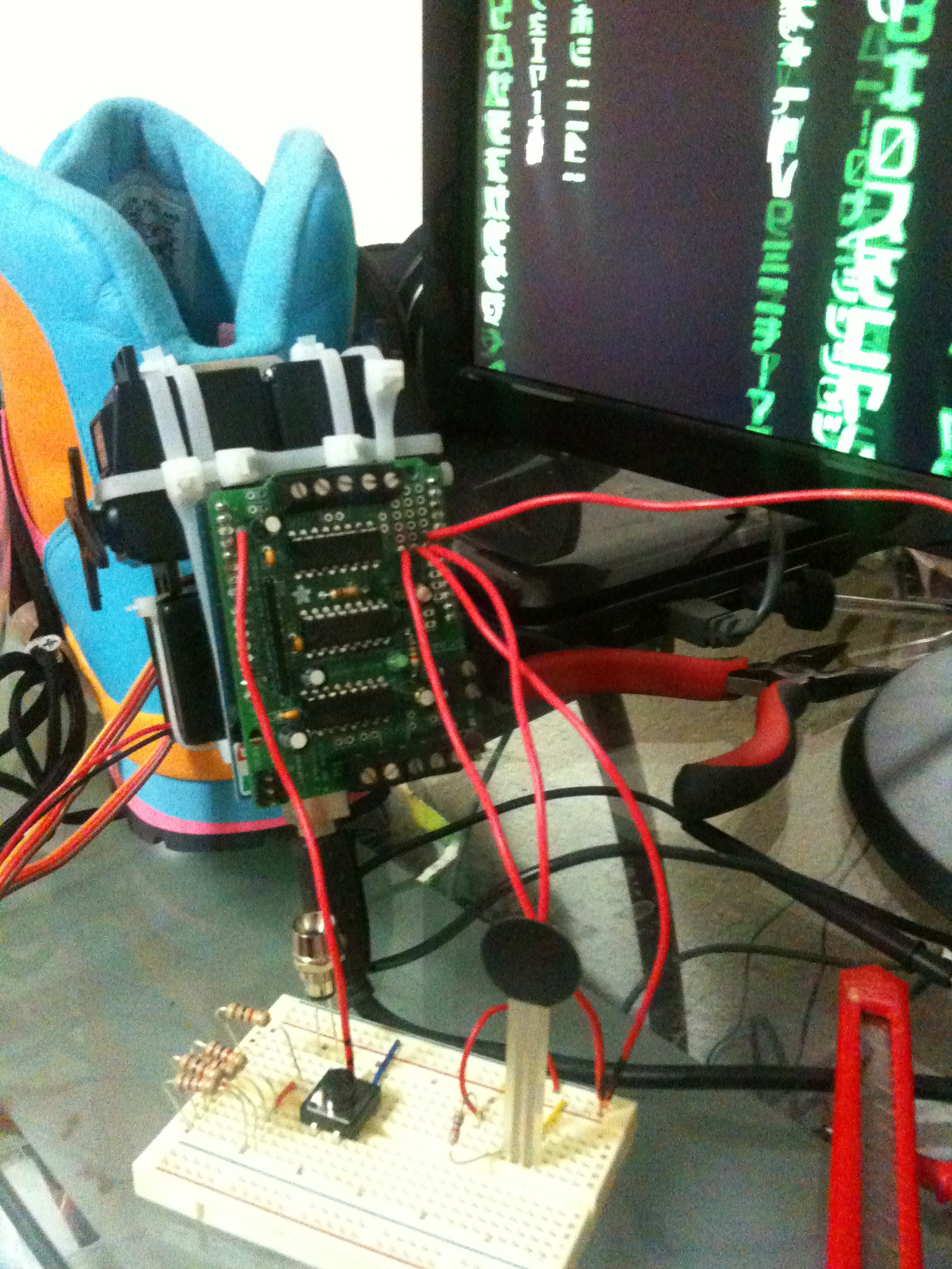 Picture of Adding Some Electronics to the Motor Shield
