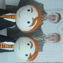 Fred and George Weasley Statue With Clay Harry Potter Stuff