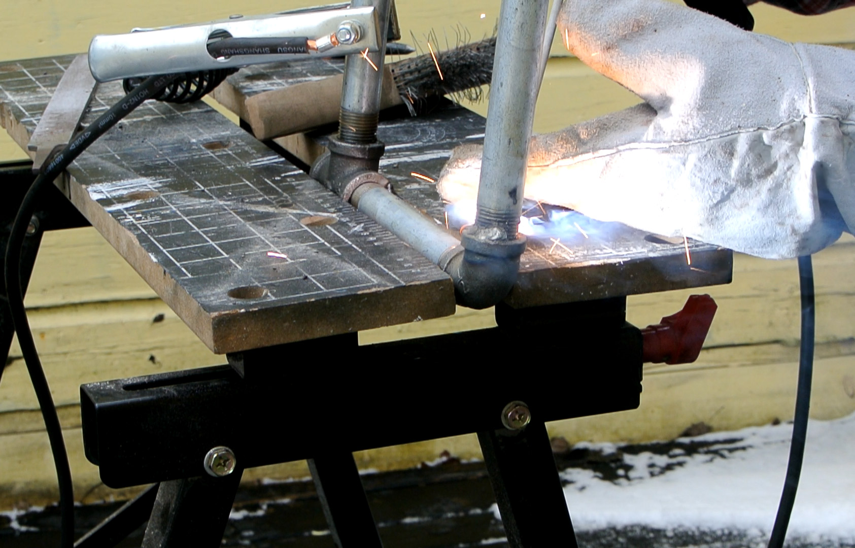 Picture of Welding the Base