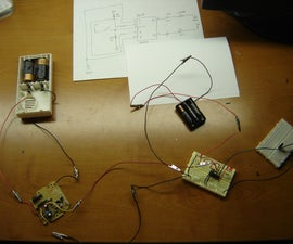 Using a wireless doorbell to turn on a small DC motor.