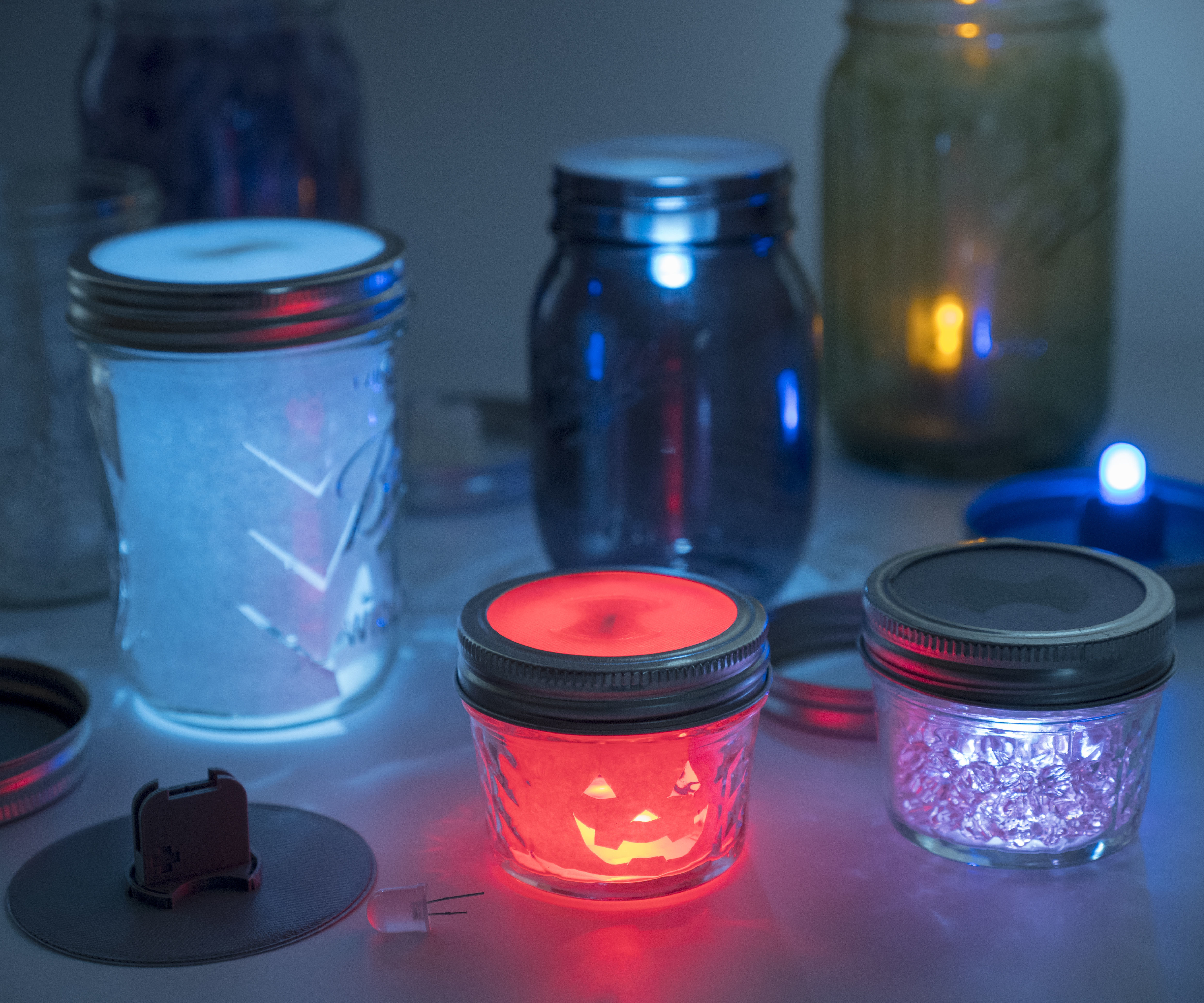 LED Solar Powered Fairy Light Insert Set For Mason Jar Rope Lid Replacement~LY