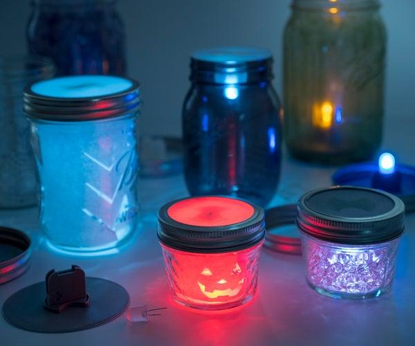 LED Mason Jar Lanterns