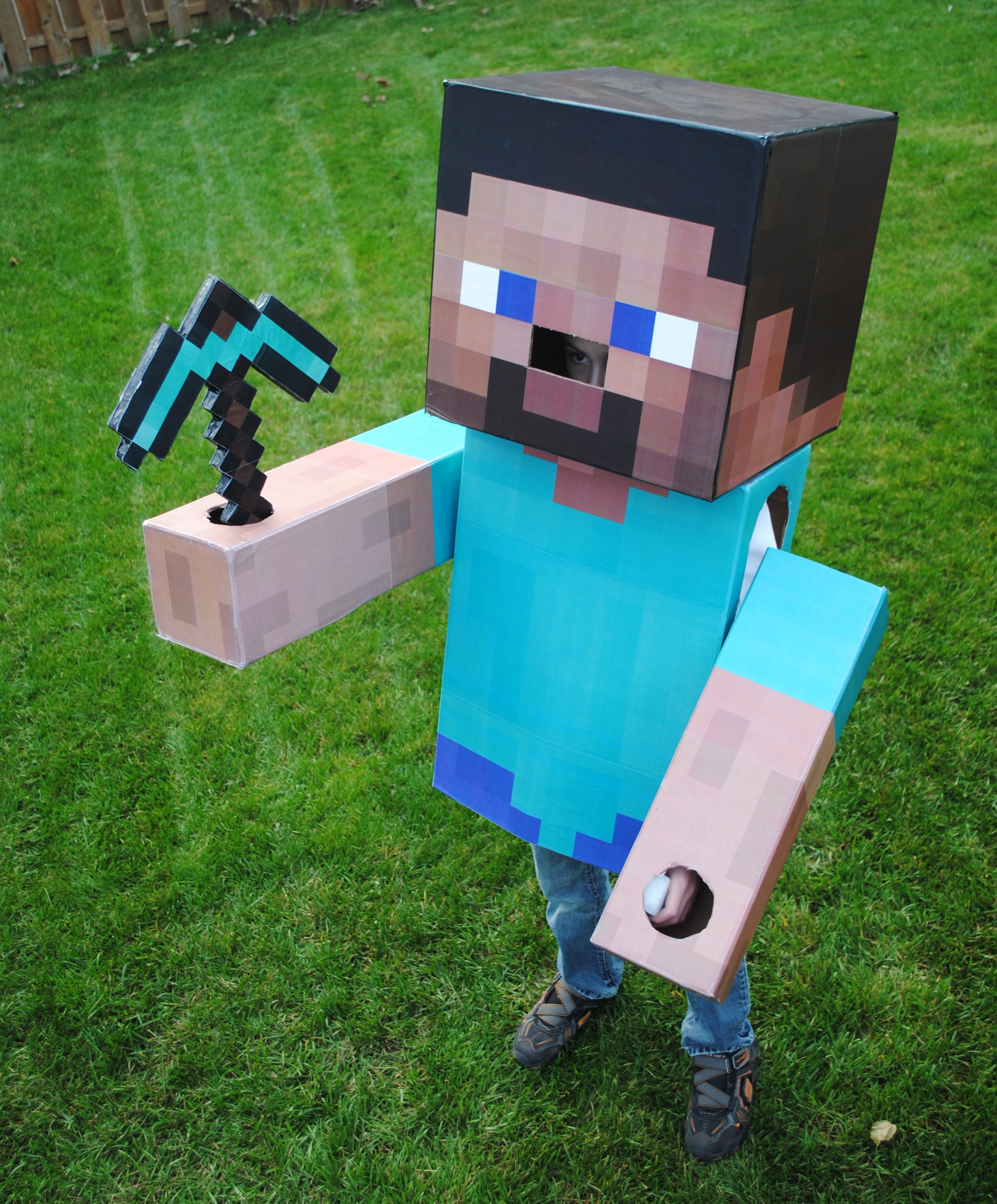Minecraft Steve Costume 6 Steps With Pictures Instructables