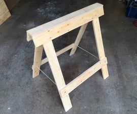 Folding Plywood Sawhorses