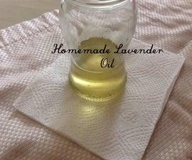 Homemade Lavender Oil