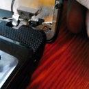 Repair broken hinge on a notebook.