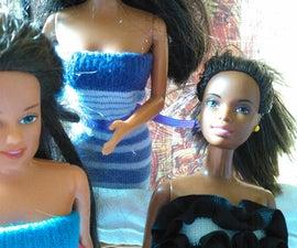 Upcycle Infant Socks Into Barbie Dresses (no Sew)