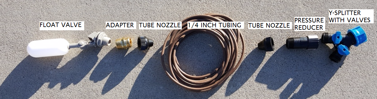 Picture of Simple Inexpensive Float Valve Automatically Keeps Your Garden Fountain Filled