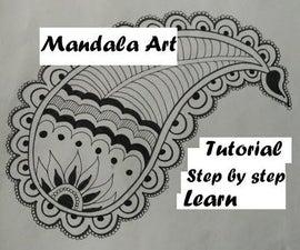Mandala Leaf Design. Learn How To