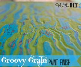 Wood Grain Paint Finish