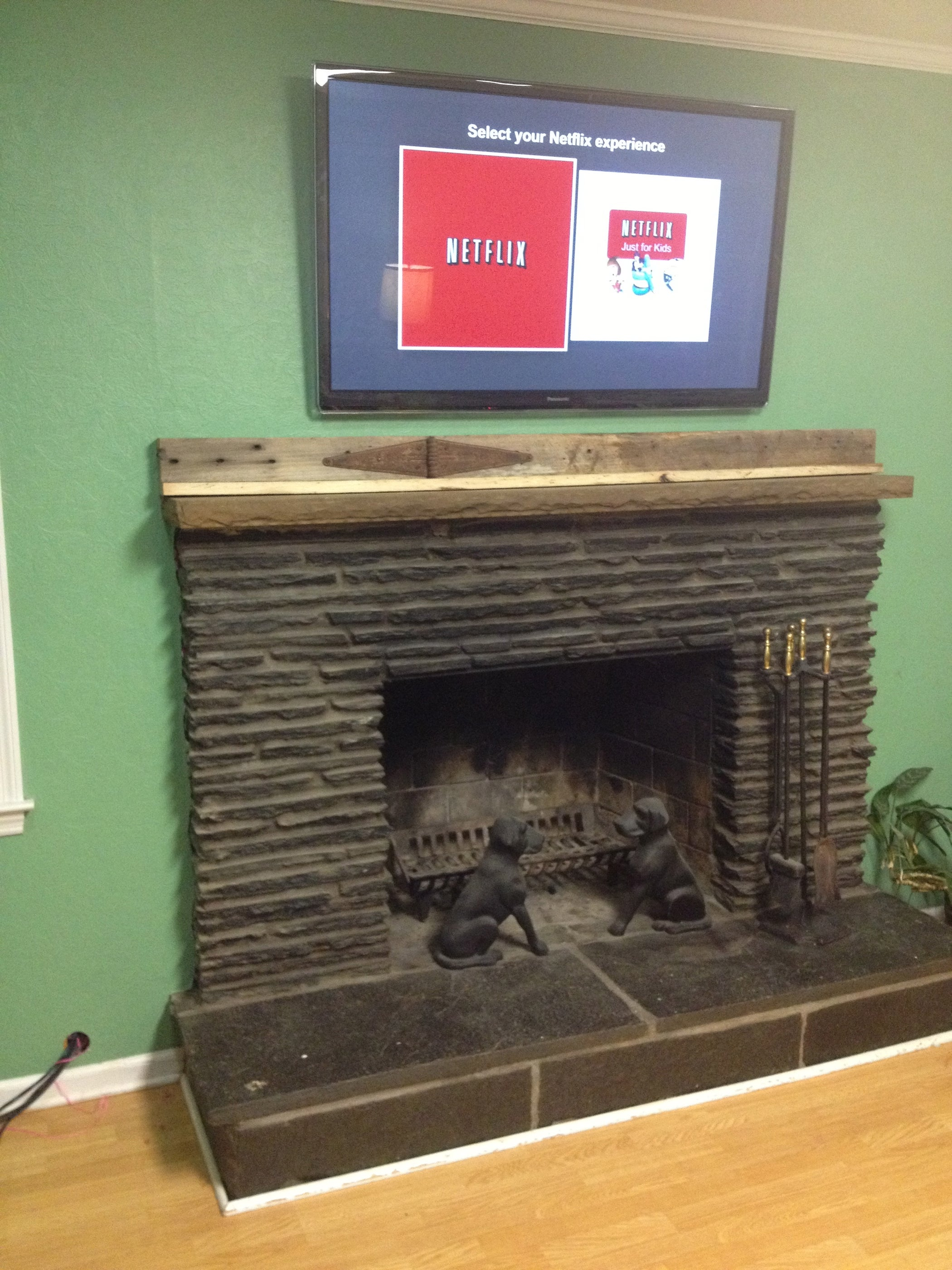 Miraculous Run Tv Cables Above A Fireplace 6 Steps With Pictures Wiring Digital Resources Anistprontobusorg