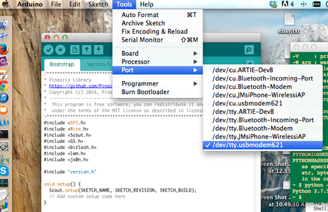 Install Arduino IDE and Load the Bootstrap Sketch Onto the Lead Scout.