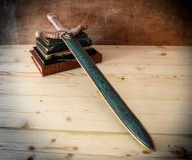 Excalibur, Antique Leather Sword