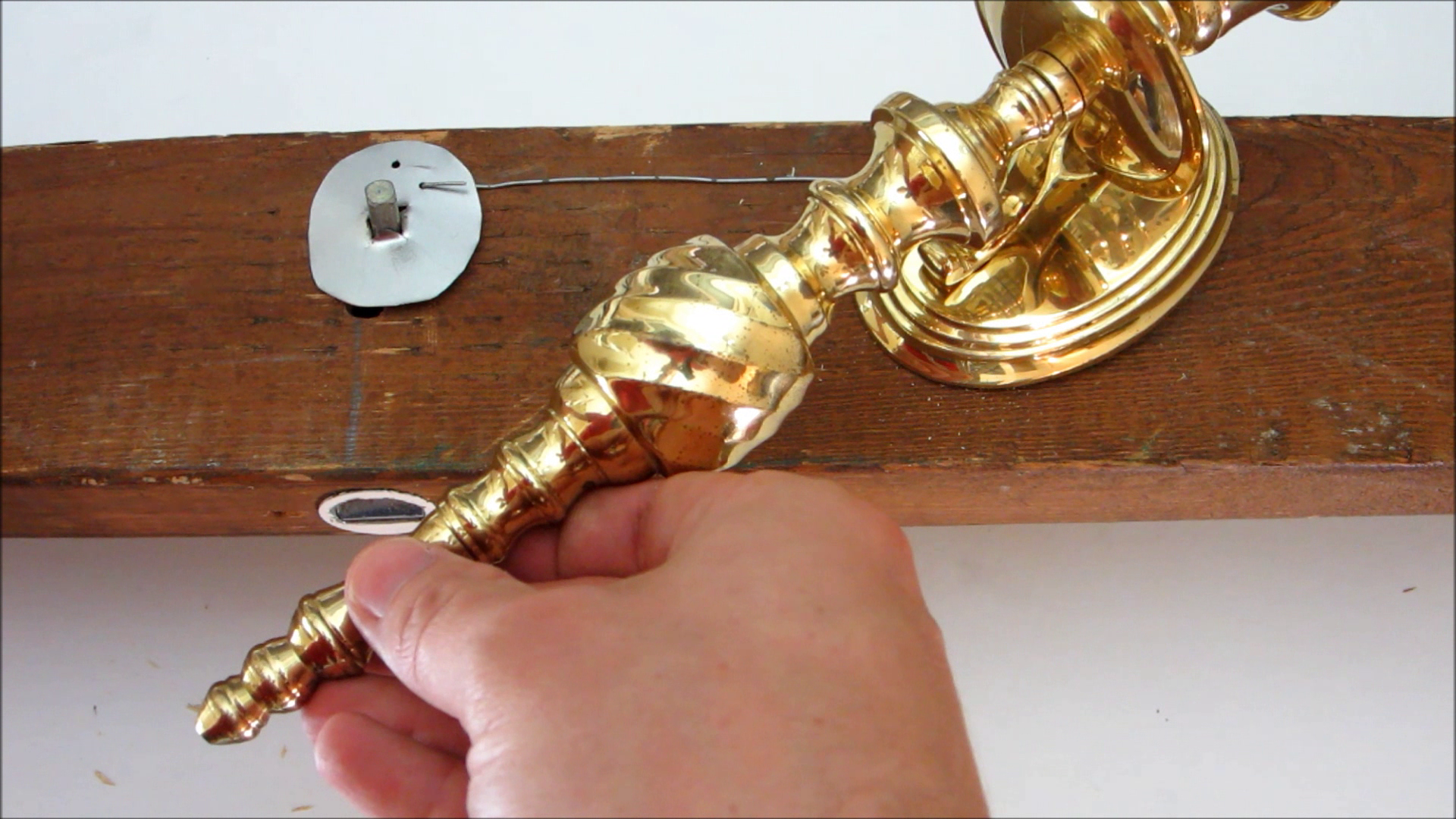 Picture of Use a Candlestick to Activate a Door Latch at a Distance With Cables