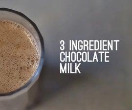 3 Ingredient Chocolate Milk