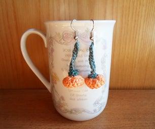 Crochet Pumpkin Earrings