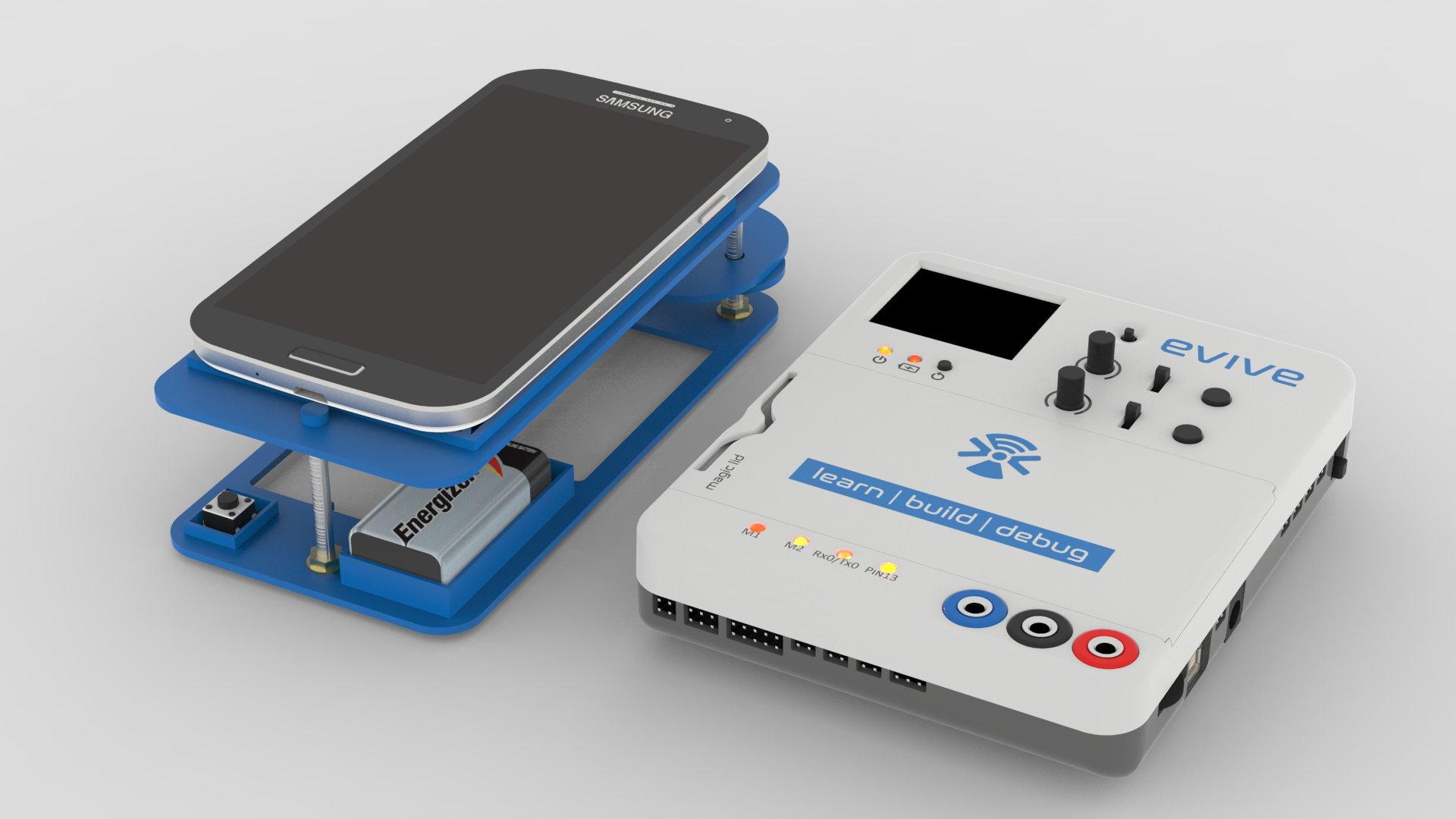 Picture of DIY Mobile Microscope Made Using Evive