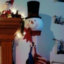 Snowman Christmas Stocking Holder
