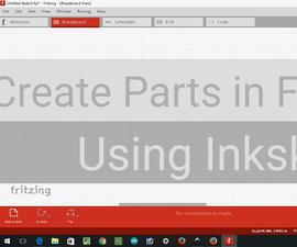 create parts in fritzing using inkskape