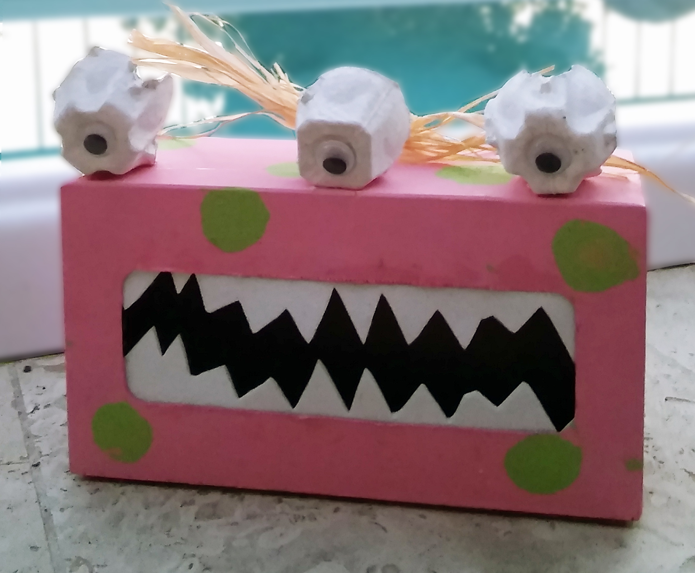 Picture of Big Foot Box & Monster Box - Halloween Kids Craft
