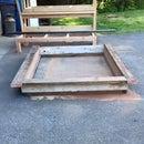Scrap Wood Headboard and platform bed