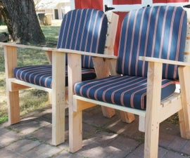 Outdoor Lawn Chairs W/ Arm Rests