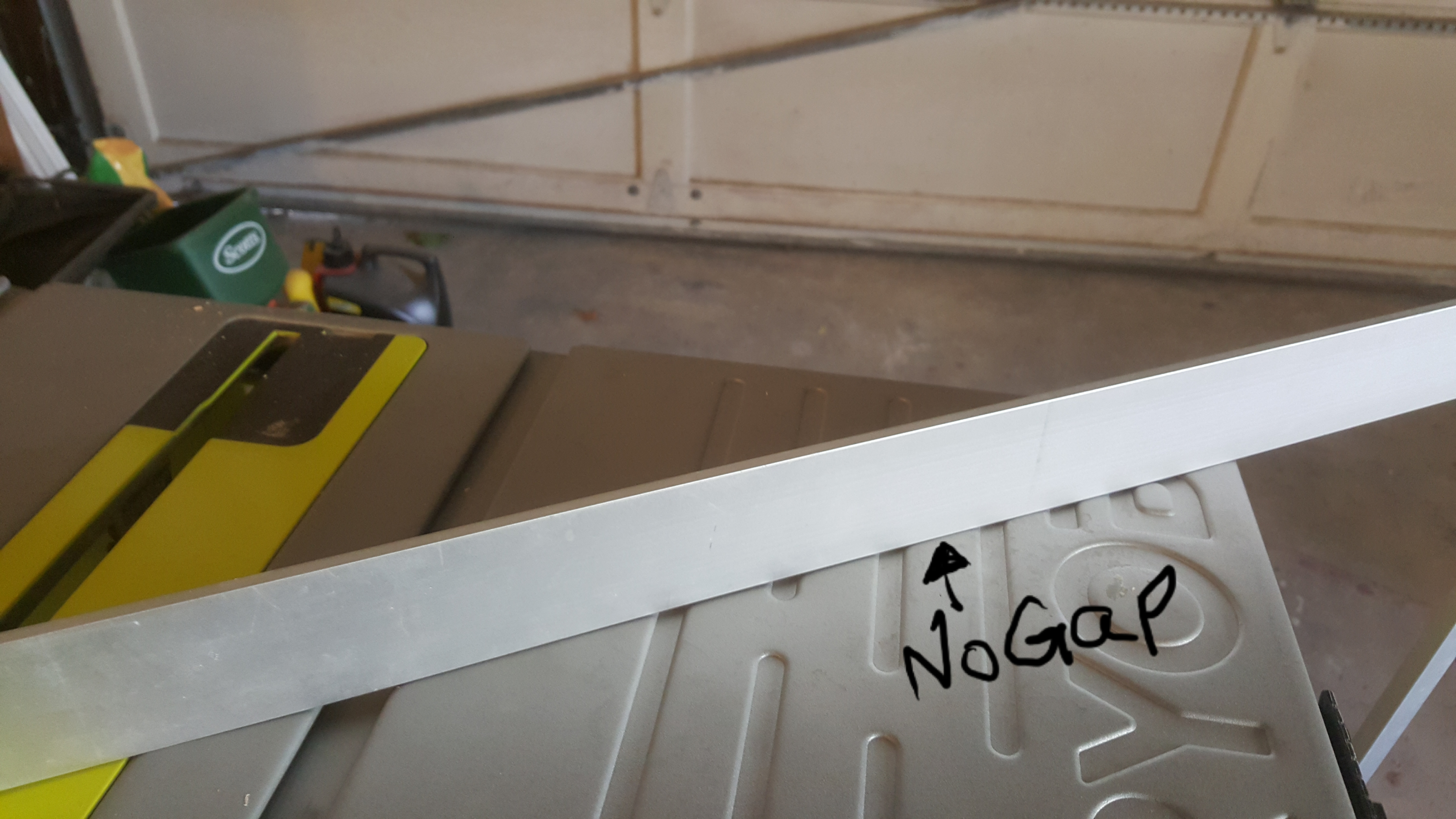 Picture of Flatening Your Tablesaw Deck.