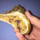 Chocolate Chip Cookie Stuffed Hot Pretzel