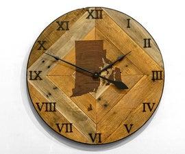 Pallet Wood Wall Clock
