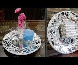 Decoration Idea || Mosaic Art || Cement Craft Idea