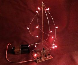 Free-form Soldering LED Tree