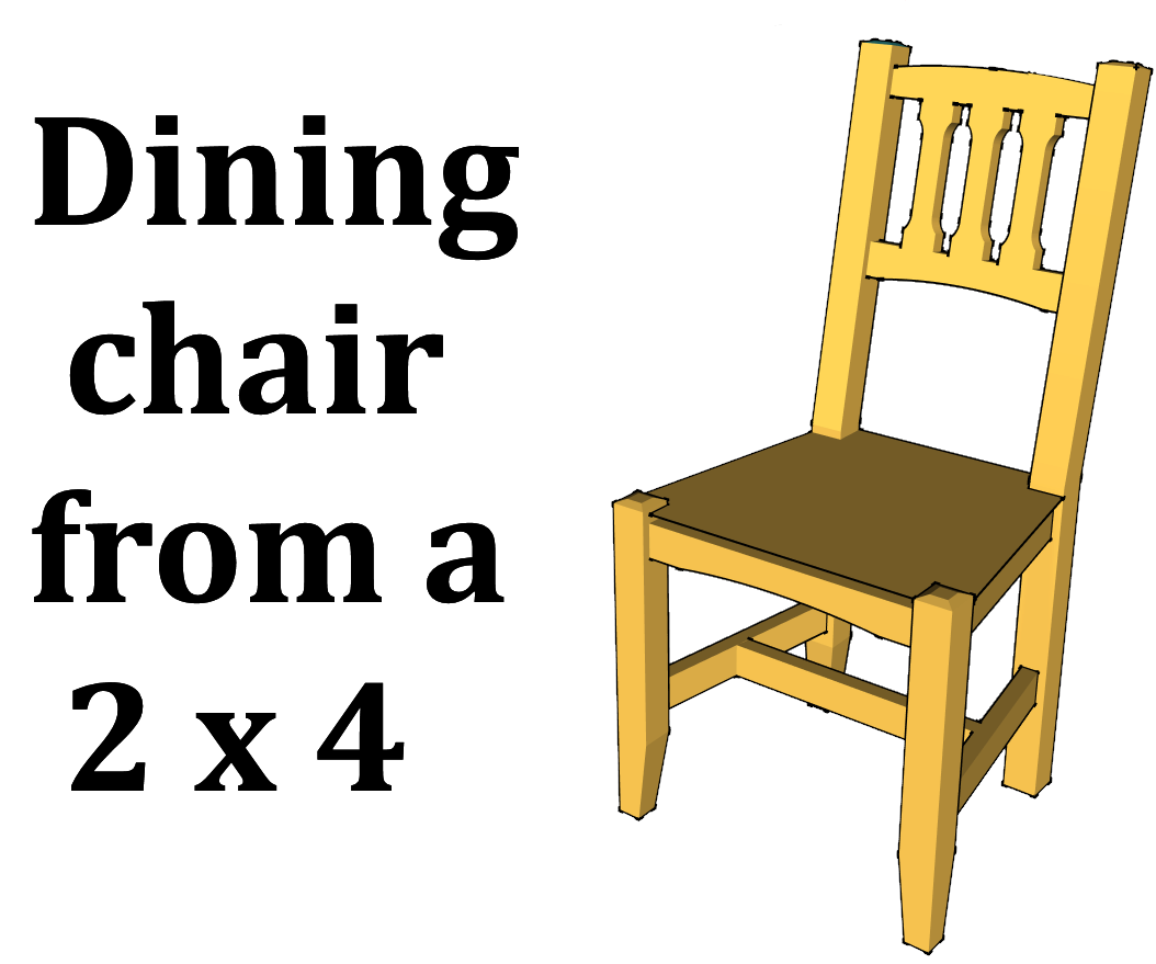 dining chair from a 2x4 9 steps with pictures