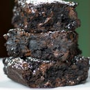 Homemade Brownies with Espresso