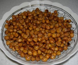 Easy Crispy, Crunchy, Tasty, Healthy Snack - Baked Chick Peas