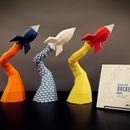 Blast Off Rocket Papercraft DIY Project