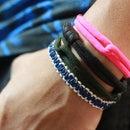 Cobra Stitch Cord Bracelet (tutorial)