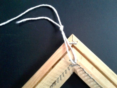 Start With a Slip Knot at the Top Corner.