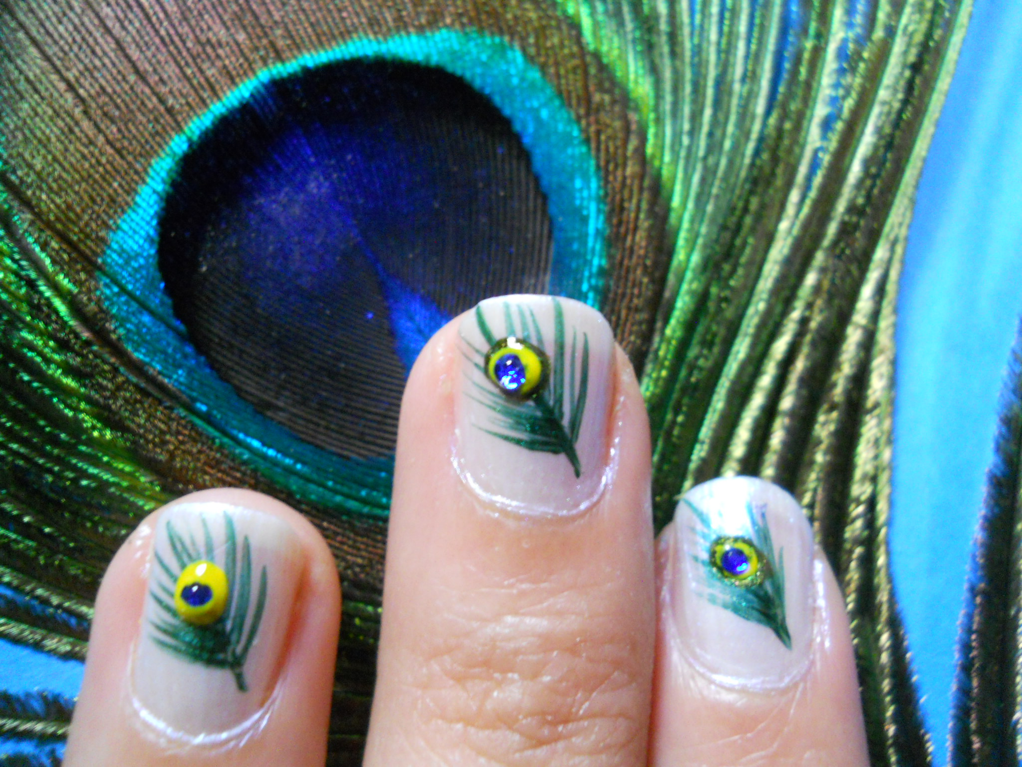 Picture of Peacock Feather Nailart