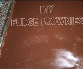 DIY Fudge Brownies W/ Chocolate Ganache