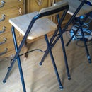 Repairing and improving of the legs of a chair: increased footprint