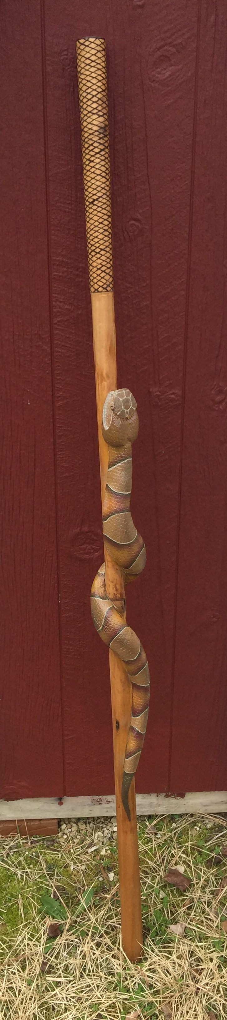 Picture of Carved Snake Cedar Walking Stick
