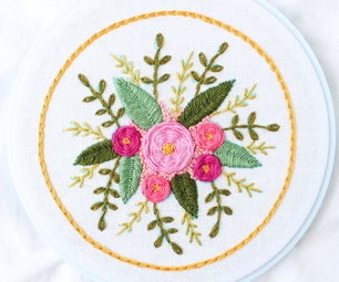 Floral Stitch Sampler + Free Pattern