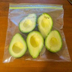Method 1: Freeze Avocado Halves
