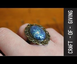 DIY Hot Glue Faux Opal Ring   Craft of Giving